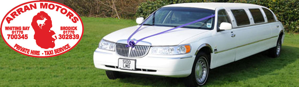 Wedding car hire on the Isle of Arran